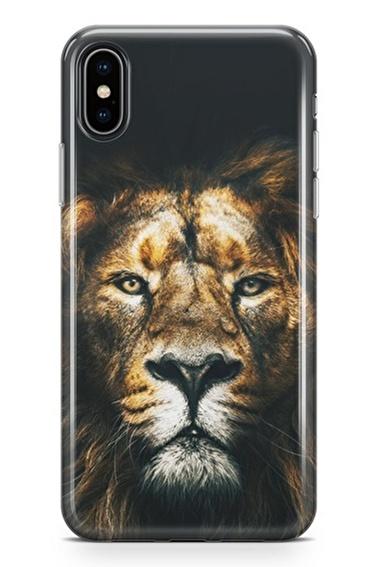 Lopard iPhone Xs Max Kılıf Silikon Arka Kapak Koruyucu Best Lion Desenli Full HD Baskılı Renkli